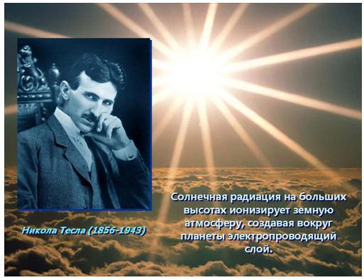 Никола Тесла, ионосфера и резонансы человеческого мозга 1